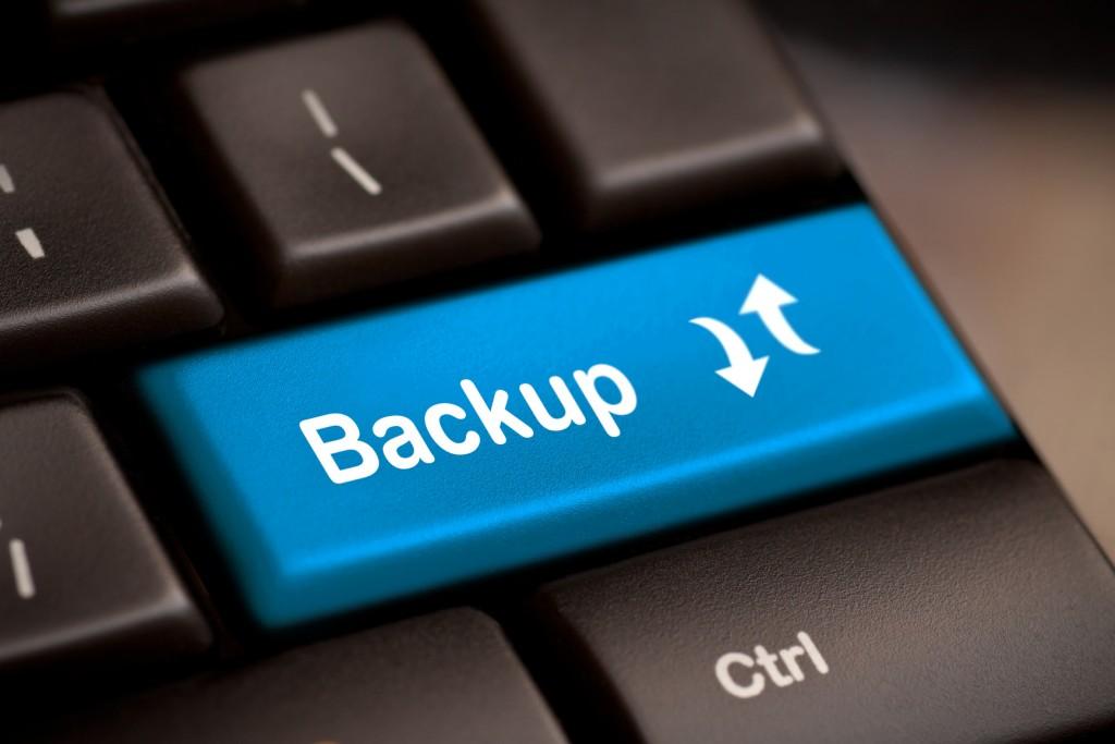 Кнопка backup